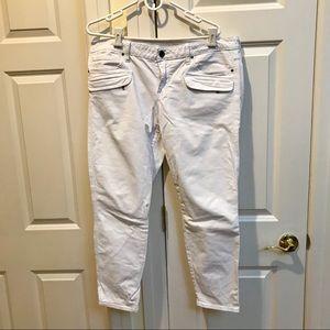 Gap Always Skinny White Jeans With Pockets